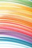 Abstrakt färg isolerade vågbakgrund Royaltyfri Fotografi
