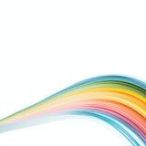Abstrakt färg isolerade vågbakgrund Arkivbild
