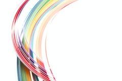 Abstrakt färg isolerade vågbakgrund Royaltyfri Bild