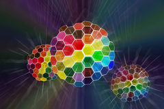 abstrakt färg sken spheren Arkivbild
