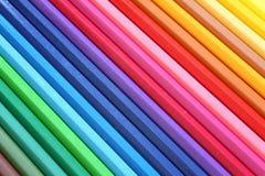abstrakt färgblyertspennor Royaltyfri Fotografi