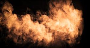 Abstrakt färgdimma eller rökflyttning på svart färgbakgrund arkivfoto