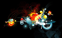 abstrakt färgfantasi Arkivfoto