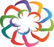 Abstrakt färgglad form för logo Royaltyfri Fotografi
