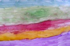 Abstrakt färgglad vattenfärgbakgrund Fotografering för Bildbyråer