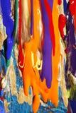 abstrakt färgglada målarfärger Arkivbild