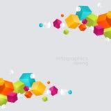 abstrakt färgkuber Royaltyfria Bilder