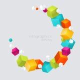 abstrakt färgkuber Royaltyfria Foton