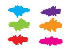 Abstrakt färgmålarfärg plaskar Målarfärgfärgstänkuppsättning Vektorillustra vektor illustrationer