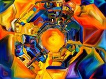 Abstrakt färgmodell Arkivfoto