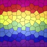 Abstrakt färgmosaik vektor illustrationer