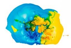 Abstrakt färgpulver i vätskekaosbakgrund Royaltyfria Foton