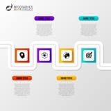 Abstrakt färgrik affärsbana Infographic mall för Timeline vektor illustrationer
