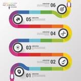 Abstrakt färgrik affärsbana Infographic mall för Timeline också vektor för coreldrawillustration stock illustrationer