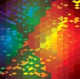Abstrakt färgrik bakgrund av geometriska former  Royaltyfri Fotografi