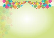 Abstrakt färgrik bakgrund-cirkel Arkivbild