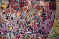 Abstrakt färgrik bakgrund för mosaiktextur Fotografering för Bildbyråer