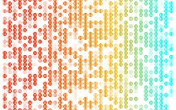 Abstrakt färgrik bakgrund för prickmodell på vit arkivbild