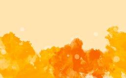 Abstrakt färgrik bakgrund för vattenfärg, guling- och apelsin Royaltyfri Fotografi