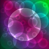 Abstrakt färgrik bakgrund med bubblor Fotografering för Bildbyråer