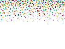Abstrakt färgrik bakgrund med fallande konfettier Vektorberömillustration Arkivfoto