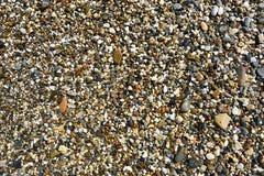 Abstrakt färgrik bakgrund med små stenar Arkivfoto