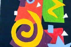 Abstrakt färgrik bakgrund och modelldesign Arkivfoto