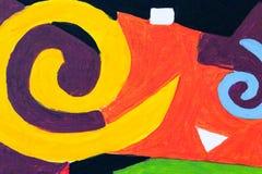 Abstrakt färgrik bakgrund och modelldesign Royaltyfri Foto