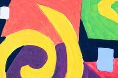 Abstrakt färgrik bakgrund och modelldesign Royaltyfria Foton