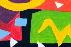 Abstrakt färgrik bakgrund och modelldesign Arkivbilder