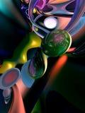 abstrakt färgrik bakgrundsblack Royaltyfri Foto