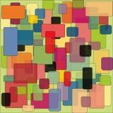 Abstrakt färgrik bakgrundsmodell av fyrkanter Arkivbild