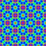Abstrakt färgrik blom- modell seamless illustrationrep Royaltyfria Bilder