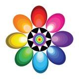 abstrakt färgrik blomma Royaltyfria Foton