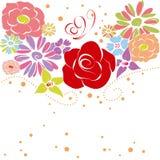 abstrakt färgrik blommafjädersommar stock illustrationer
