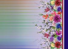 Abstrakt f?rgrik blommamodell med abstrakt bakgrund royaltyfri illustrationer