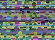Abstrakt färgrik cercle Royaltyfri Fotografi