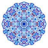 Abstrakt färgrik cirkelbakgrund Geometrisk vektormandala Mosaiskt baner av geometriska former Fotografering för Bildbyråer