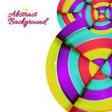 Abstrakt färgrik design för regnbågekurvbakgrund. Arkivbilder
