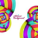 Abstrakt färgrik design för regnbågekurvbakgrund. Royaltyfri Fotografi