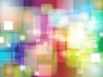 Abstrakt färgrik design för suddighetsBokeh bakgrund Arkivbild