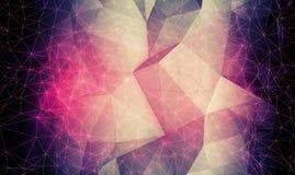 Abstrakt färgrik digital polygonal bakgrund 3d Royaltyfri Fotografi