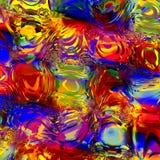 Abstrakt färgrik Digital vatteneffekt Frambragda Digital avbildar Bakgrund för designkonstverk Semitransparent Overlying royaltyfri illustrationer