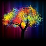 abstrakt färgrik för eps-avstånd för kopia 8 tree vektor illustrationer