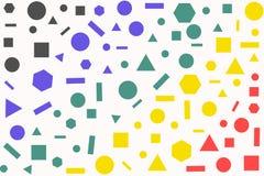 Abstrakt färgrik geometrimodell Arkivbild