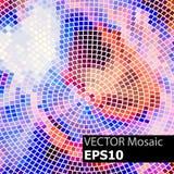 Abstrakt färgrik geometrisk mosaikbakgrund Arkivbild