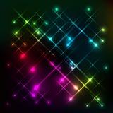Abstrakt färgrik glödbakgrundsvektor Fotografering för Bildbyråer