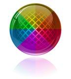 abstrakt färgrik glansig sphere Arkivfoton