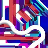 abstrakt färgrik illustration Arkivfoto