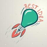 Abstrakt färgrik illustration av lightbulben Royaltyfria Foton